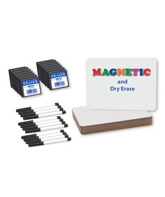 Flipside Products Magnetic White Dry Erase Board Set   zulily