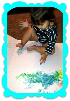#DIY finger paints for #toddlers