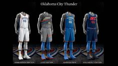 Oklahoma City Thunder uniform set, 2017-18
