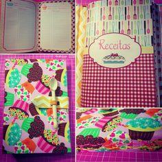 Cadernos de receitas personalizado! Tudo feito a mão e com muito amor!