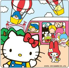 Fairground fun with #HelloKitty, #MyMelody and the #Sanrio characters