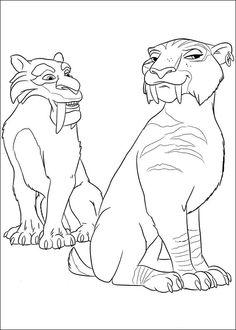 Ice Age Målarbilder för barn. Teckningar online till skriv ut. Nº 13