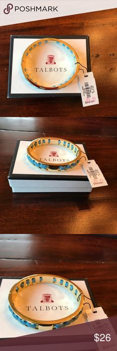 PRICE✂️✂️Talbots NWT bracelet with blue suede cord Talbots NWT pretty bracelet. W 2 1/2 with an opening to put on. Suede light blue cord  braided into bracelet. Comes with box Talbots Jewelry Bracelets