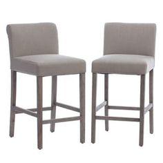 beige linen counter stools set of 2
