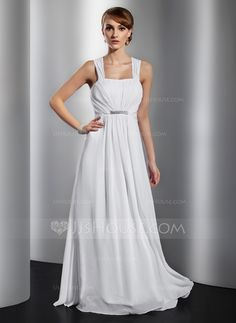 Evening Dresses - $129.99 - A-Line/Princess Floor-Length Chiffon Evening Dress With Ruffle Beading Bow(s) (017014832) http://jjshouse.com/A-Line-Princess-Floor-Length-Chiffon-Evening-Dress-With-Ruffle-Beading-Bow-S-017014832-g14832