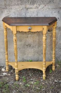 Shabby Chic yellow hall table - SA craigslist