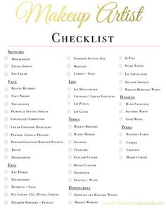 Mua checklist Makeup Artist Hacks, Makeup Artist Quotes, Makeup Artist Career, Becoming A