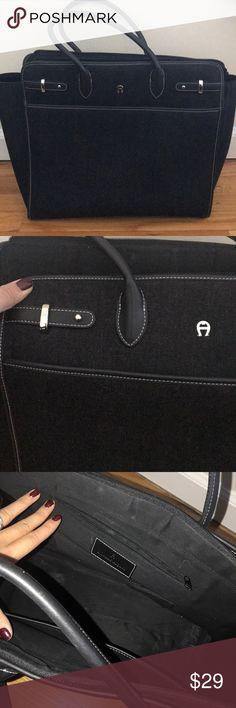 Black Tote Good condition. Gently used. Will fit lap top and books. Etienne Aigner Bags Totes