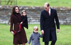 Prince William and Kate attend Christmas service with their children