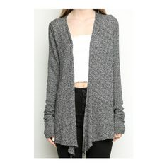 Johanna Cardigan (€27) ❤ liked on Polyvore featuring tops, cardigans, cardigans/kimonos, drapey tops, draped cardigan, open front tops, open front kimono cardigan and drape top
