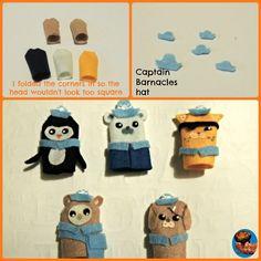 DIY Octonauts finger puppets
