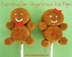 Gingerbread marshmallow pops