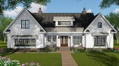 Find your dream modern-farmhouse style house plan such as Plan which is a 2514 sq ft, 4 bed, 3 bath home with 2 garage stalls from Monster House Plans. Craftsman Farmhouse, Modern Farmhouse Plans, Farmhouse Design, Craftsman Homes, Farmhouse Ideas, Craftsman Style, Home Design, American Farmhouse, Open Concept Floor Plans