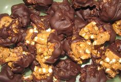 Chocolate Peanut Butter Pretzel Balls - 1 weight watchers points plus.  Sweet and salty, but hard to have just 1....or 5