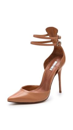 Schutz Mirrela Ankle Strap Pumps in Nuts