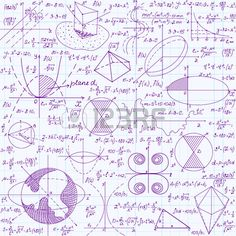 Matem ticas vectorial educaci n sin patr n con f rmulas escritas a mano tareas parcelas los c lculos Foto de archivo