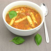 Slow-Cooked Penne and Veggie Soup
