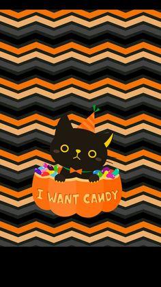 iPhone Halloween Wallpaper cute black cat