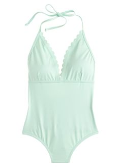 min scalloped one-piece swimsuit