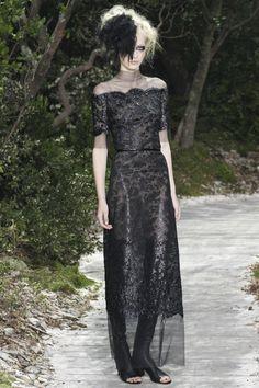 black lace dress @CHANEL Chanel Spring Summer 2013 #HauteCouture #Fashion