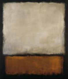 mark rothko, dark brown and grey