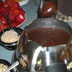 Chocolate Bar Fondue - Allrecipes.com