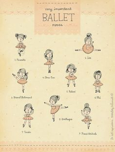 Very Important Ballet Moves by TuesdaySchmidt on Etsy