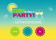 Een zonnige uitnodiging - Uitnodigingen - Kaartje2go