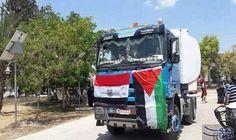 بدء دخول شاحنات الوقود المصري لمحطة توليد الكهرباء في غزة: بدء دخول شاحنات الوقود المصري لمحطة توليد الكهرباء في غزة