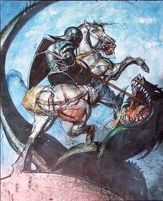 vizuálne stvárnenia legendárneho súboja sv. Juraja