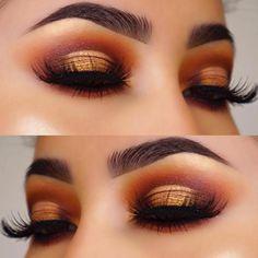 Gorgeous Makeup: Tips and Tricks With Eye Makeup and Eyeshadow – Makeup Design Ideas Eye Makeup Glitter, Rose Gold Makeup, Eye Makeup Tips, Smokey Eye Makeup, Skin Makeup, Makeup Inspo, Makeup Inspiration, Makeup Ideas, Fall Eye Makeup