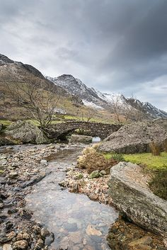 Afon Nant Peris Bridge Snowdonia by Christine Smart Cool Places To Visit, Places To Travel, Places To Go, Wonderful Places, Beautiful Places, Snowdonia National Park, Brecon Beacons, English Countryside, Mountain Landscape