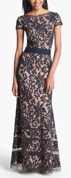 Embellished lace gown by Tadashi Shoji http://rstyle.me/n/vqhrwn2bn