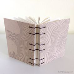 Suminagashi Journal, Coptic Journal, lays flat when opwn, sketchbook, great gift for an artist