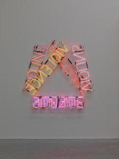 Bruce Nauman 'VIOLINS VIOLENCE SILENCE', 1981–2 © ARS, NY and DACS, London 2016.Neon Art//Neon LOVE!!!