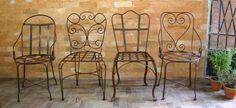 Cadeiras de ferro enfrerrujadas natural- Loja Dom Mascate www.dommascate.com.br