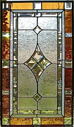 stained glass panels | Custom Made Traditional Stained Glass Window/Panel by Glassmagic ... #StainedGlassWindows