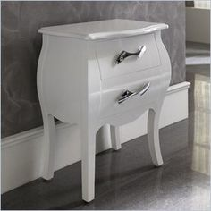 Dupen Nelly Nightstand in White - The Nelly collection will create a visual fantasy in your bedroom using traditional shapes in the modern interpretation.  Features: This collection combines wood, leather and metal to lend a special and remarkable elegance. Made in Spain  Specifications: Product Weight: 38lbs Overall Product Dimensions: 24H x 20W x 12D