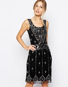 Frock and Frill Deco Sequin Shift Dress