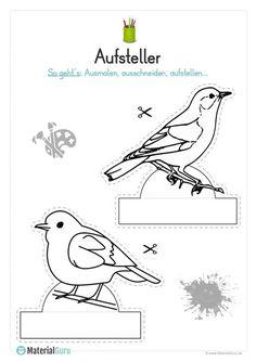 durch das jahr - winter vogelhaus schneemann - van der merwe | vorschule winter, schneemann und