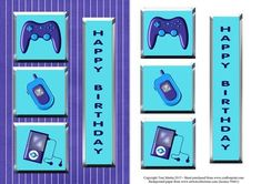 - Card front / topper with metallic effect for gadget loving dads on father's day. Features a games controller, a mobile phon. Boy Birthday, Birthday Cards, Ipod, Phone, Kids Cards, Fathers Day, Decoupage, Projects To Try, Card Making