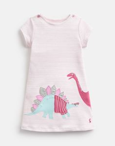 Buy Joules Pink Kaye Short Sleeve Jersey Appliqué Dress from the Next UK online shop Toddler Girl Dresses, Girls Dresses, Toddler Girls, Joules Girls, Joules Uk, Toddler Rain Boots, Toms, Short Sleeve Dresses, Dresses With Sleeves