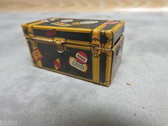Marx Trunk Luggage Accessory Tin Litho Toy Train Accy
