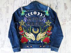 Bespoke Moon Magic Denim and Bone jacket