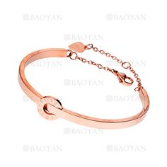 pulsera de estilo simple moda diseno nuevo en acero rosado inoxidable-SSBTG924377