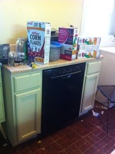 Free Standing dishwasher cabinet