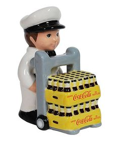 Love this Coca-Cola Coke Delivery Salt & Pepper Shakers by Coca-Cola on #zulily! #zulilyfinds