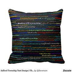 Salford Township Text Design I Throw Pillow
