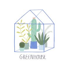 Greenhouse, illustration by Tina Schulte 11/2017