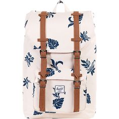 Herschel Supply Co. Little America Mid-Volume Laptop Backpack ($90) ❤ liked on Polyvore featuring bags, backpacks, laptop backpacks, white, shoulder strap backpack, padded laptop backpack, laptop pocket backpack, strap backpack and backpacks bags